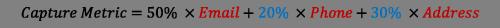 Capture Metric Equation